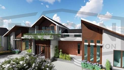 Proyek Rumah Minimalis Modern Bapak Rafa - Depok 2 EXACON:   by Exacon Multi Rekayasa