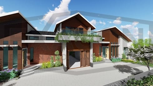 Proyek Rumah Minimalis Modern Bapak Rafa - Depok 3 EXACON:   by Exacon Multi Rekayasa