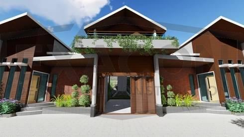 Proyek Rumah Minimalis Modern Bapak Rafa - Depok 4 EXACON:   by Exacon Multi Rekayasa