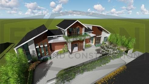 Proyek Rumah Minimalis Modern Bapak Rafa - Depok 5 EXACON:   by Exacon Multi Rekayasa