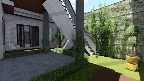 Proyek Rumah Minimalis Modern Bapak Rafa - Depok 7 EXACON:   by Exacon Multi Rekayasa
