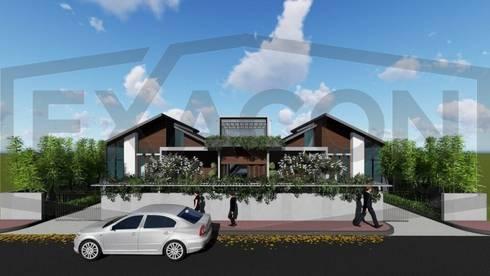 Proyek II Rumah Minimalis Modern Bapak Rafa - Depok 1 EXACON:   by Exacon Multi Rekayasa