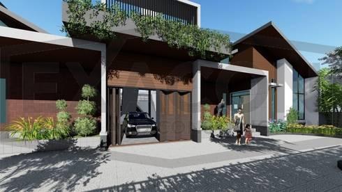 Proyek II Rumah Minimalis Modern Bapak Rafa - Depok 3 EXACON:   by Exacon Multi Rekayasa