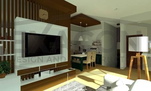 Desain Interior Rumah Minimalis Modern Bapak Anto – Depok 1 EXACON:   by Exacon Multi Rekayasa