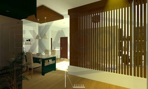 Desain Interior Rumah Minimalis Modern Bapak Anto – Depok 2 EXACON:   by Exacon Multi Rekayasa