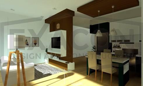 Desain Interior Rumah Minimalis Modern Bapak Anto – Depok 4 EXACON:   by Exacon Multi Rekayasa