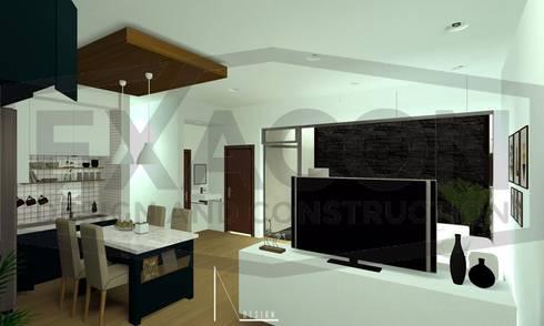 Desain Interior Rumah Minimalis Modern Bapak Anto – Depok 5 EXACON:   by Exacon Multi Rekayasa