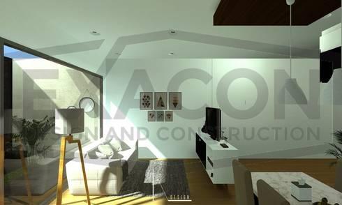 Desain Interior Rumah Minimalis Modern Bapak Anto – Depok 6 EXACON:   by Exacon Multi Rekayasa