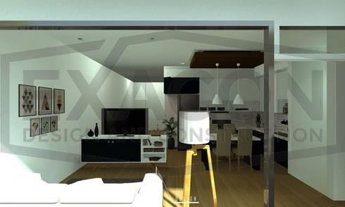 Desain Interior Rumah Minimalis Modern Bapak Anto – Depok 7 EXACON:   by Exacon Multi Rekayasa