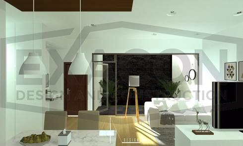Desain Interior Rumah Minimalis Modern Bapak Anto – Depok 8 EXACON:   by Exacon Multi Rekayasa