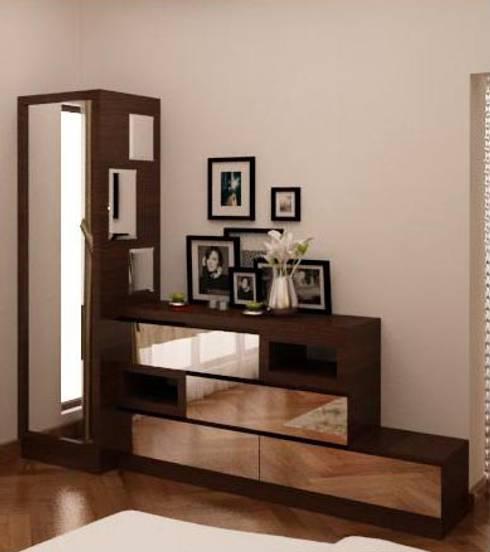 Dresser unit - multiple storage multiple mirror :  Dressing room by NVT Quality Build solution
