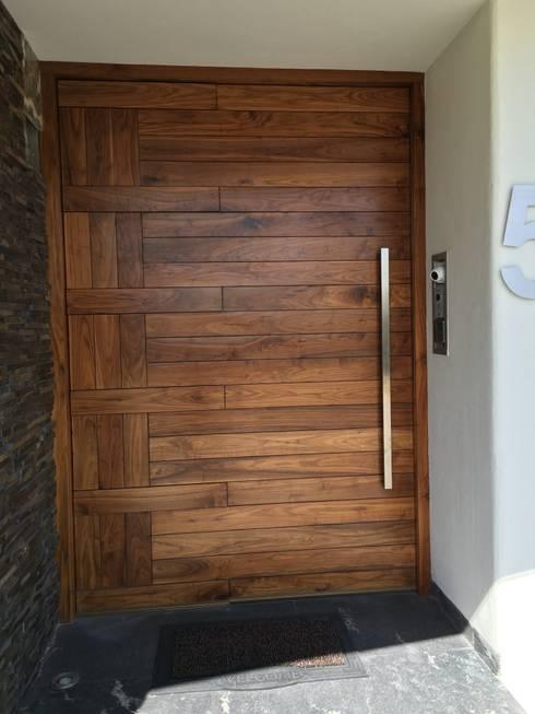 Puertas de madera modernas for Puertas de entrada de casas modernas