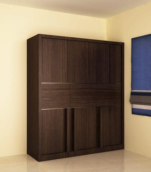 Wardrobe in different style shutter :  Bedroom by NVT Quality Build solution