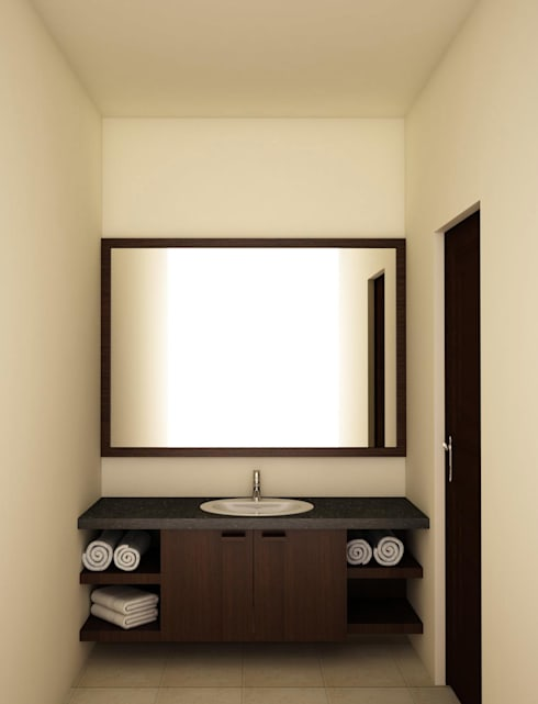 Vanity unit and mirror :  Bathroom by NVT Quality Build solution