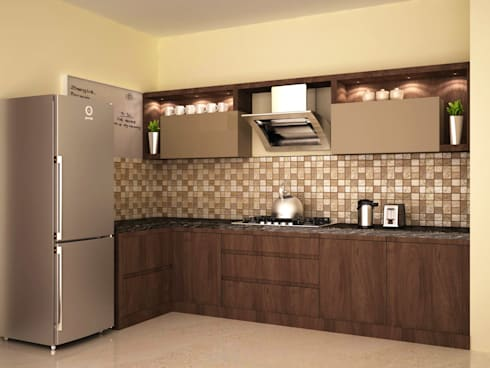 Dual colour style : modern Kitchen by NVT Quality Build solution