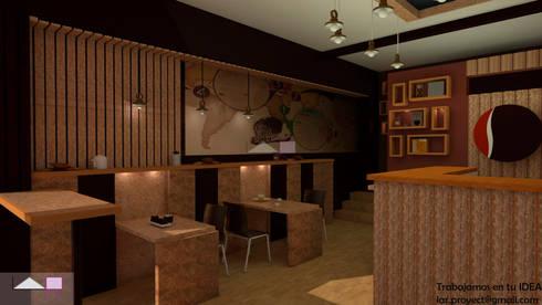 Vista 3d del proyecto: Tiendas y espacios comerciales de estilo  por LAR-Diseño y construcción