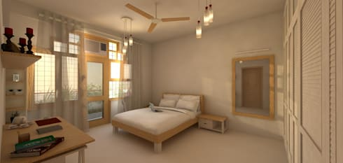 Gupta Residence, Delhi: classic Bedroom by Studio Square