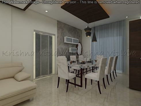 Dining Room : modern Dining room by Regalias India Interiors & Infrastructure