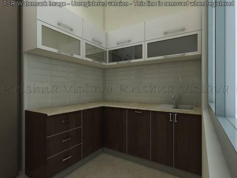 Kitchen:  Built-in kitchens by Regalias India Interiors & Infrastructure