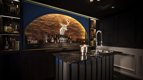Private Club:  Walls & flooring by Artta Concept Studio