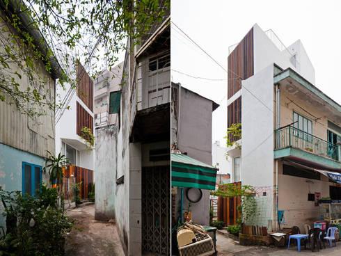 Ngắm Diện Mạo Ngôi Nhà Phố 32m2 Tuyệt Đẹp Trong Hẻm Nhỏ Sài Gòn:  Nhà gia đình by Công ty TNHH Xây Dựng TM – DV Song Phát