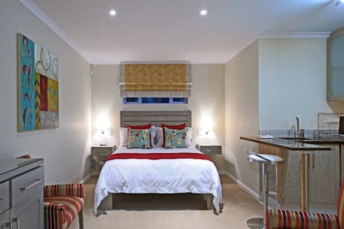 Renovations to Gardenview Guest House: modern Bedroom by The Matrix Urban Designers and Architects