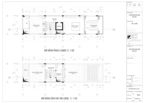 Nhà ở Lô Phố 5 tầng :   by công ty cổ phần Thiết kế Kiến trúc Việt Xanh