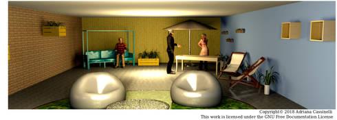 3D Interior de Local Comercial: Centros comerciales de estilo  por Minimalistika.com
