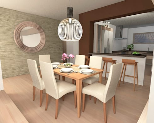 Dise o interior living comedor de mm design homify for Disenos de living comedor modernos