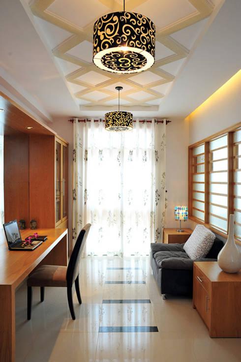 Phòng ngủ sang trọng và thoáng đãng:  Phòng học/Văn phòng by Công ty TNHH Xây Dựng TM – DV Song Phát