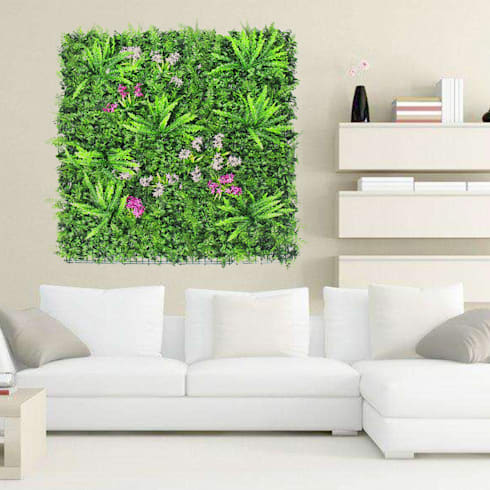 Artificial Vertical Garden Art: country Living room by Sunwing Industrial Co., Ltd.