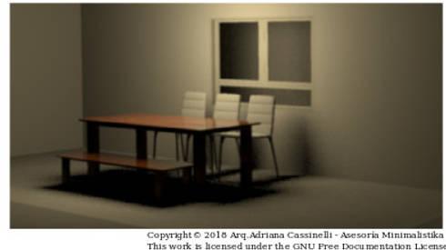 3D de mobiliario propuesto para zona anexa a sala:  de estilo  por Minimalistika.com