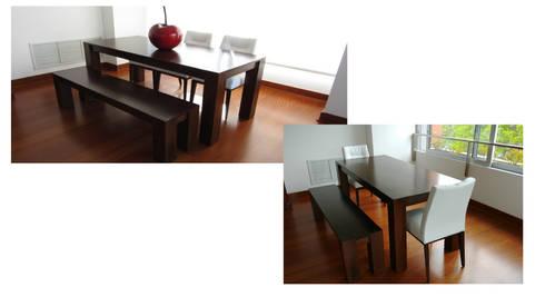 Elemento propuesto para zona anexa a sala: Salas/Recibidores de estilo minimalista por Minimalistika.com