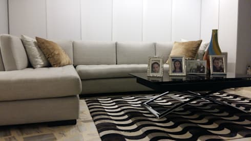 APARTAMENTO BARRANQUILLA: Salones de estilo  por ANDRES FELIPE YANET - ESTUDIO DE DISEÑO