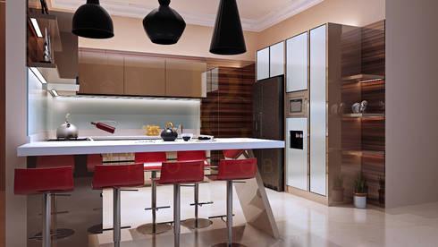 Kitchen Set & Credenza TV – Nadia – Mampang:  Kitchen by Pro Global Interior