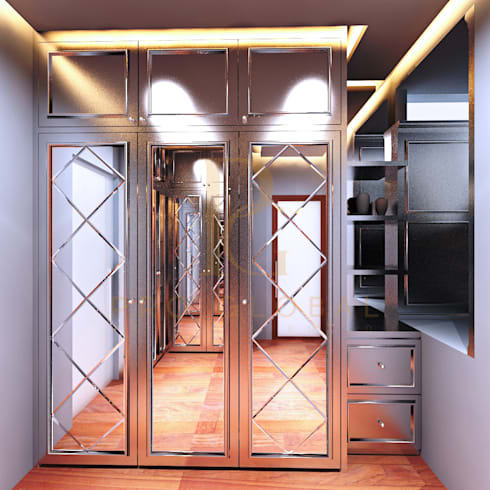 Walk in Closet ( Right Side):  Dressing room by Pro Global Interior