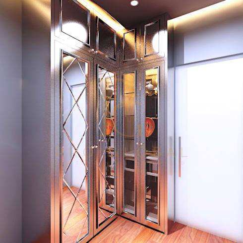 Walk in Closet ( Left Side):  Dressing room by Pro Global Interior