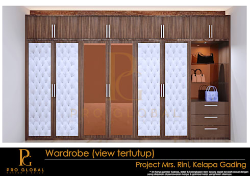 Wardrobe (Outside View):  Bedroom by Pro Global Interior
