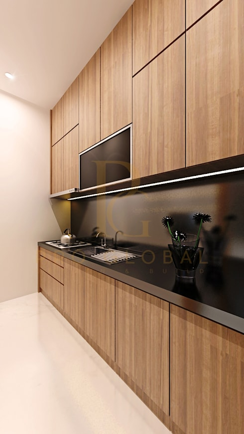 Kitchen Area:  Kitchen by Pro Global Interior