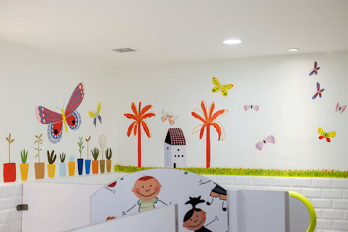 Wall Mural Interior Toilet Anak:   by Roemah Cantik