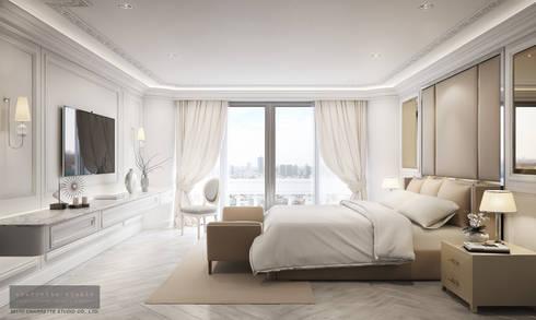 Bedroom 2:  ห้องนอน by Charrette Studio Co., Ltd.