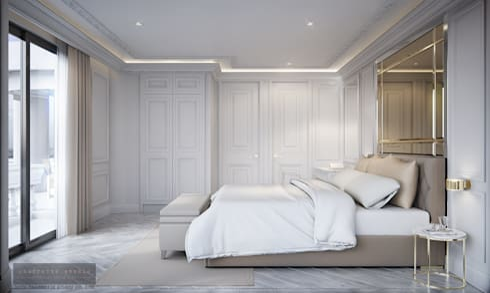 Bedroom 3:  ห้องนอน by Charrette Studio Co., Ltd.