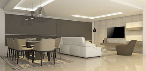 La Llovizna : modern Living room by Spazio Design