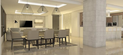 La Llovizna : modern Dining room by Spazio Design