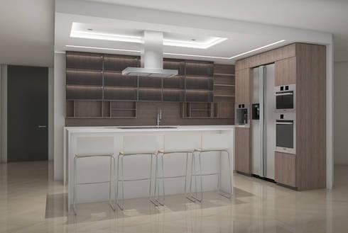 La Llovizna : modern Kitchen by Spazio Design