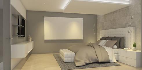 La Llovizna : modern Bedroom by Spazio Design