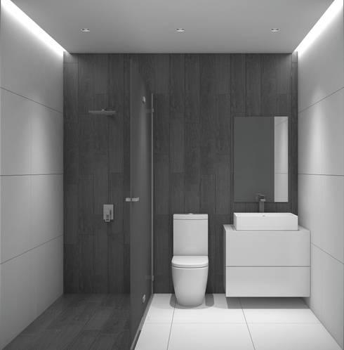 La Llovizna : modern Bathroom by Spazio Design