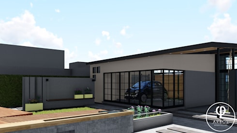 industrial Garage/shed by ARBOL Arquitectos