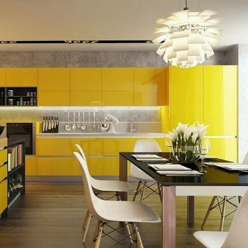 Interior : Cocinas de estilo moderno por MARCELA PATIÑO INTERIORISMO