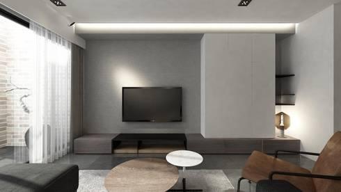 Taoyuan L House:  牆面 by 質覺制作設計有限公司
